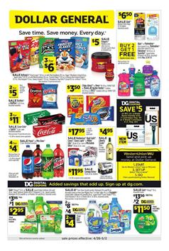Dollar General Weekly Ad Sale Apr 26 - May 2, 2020