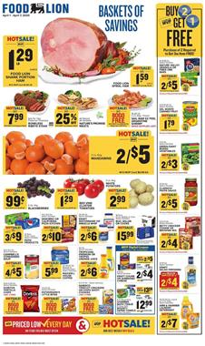Food Lion Weekly Ad Sale Apr 1 - 7, 2020