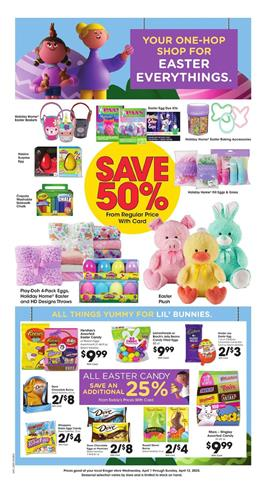 Kroger Easter Products Apr 8 - 14, 2020