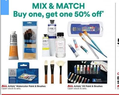 Michaels Mix and Match Sale