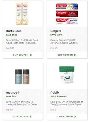 New Publix Digital Coupons Personal Care