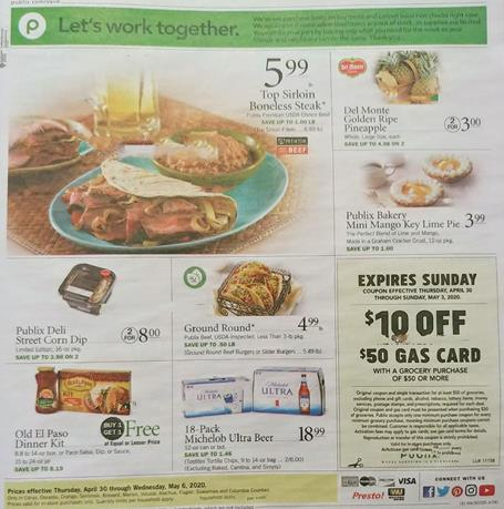 Publix Weekly Ad Preview Apr 29 May 5 2020
