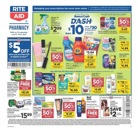 Rite Aid Weekly Ad Preview Apr 26 May 2 2020