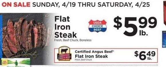 Shoprite Flat Iron Steak Deal