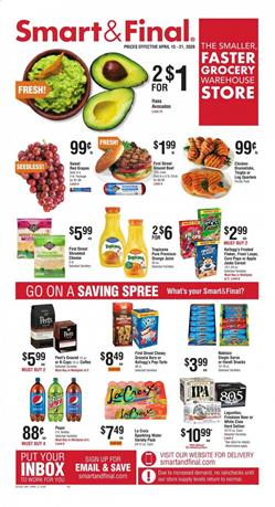 Smart and Final Ad Grocery Apr 15 - 21, 2020