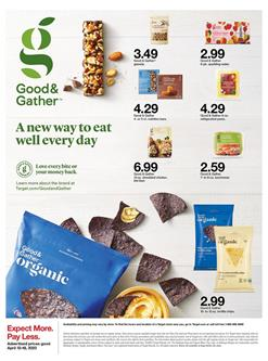 Target Good and Gather Food Sale Apr 12 - 18, 2020