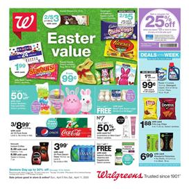 Walgreens Supermarket Sale Apr 5 - 11, 2020