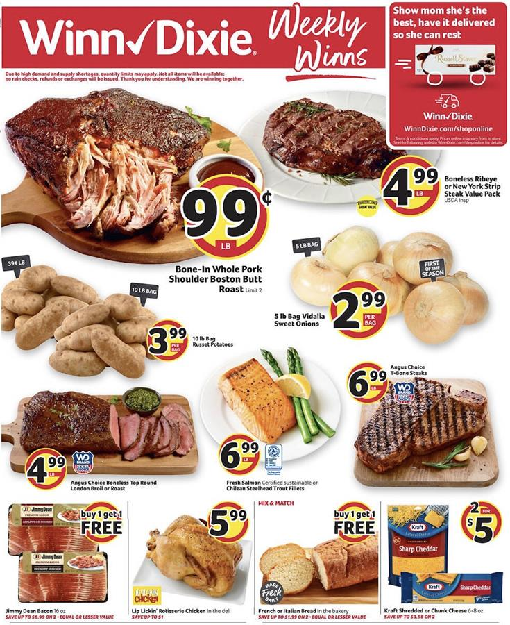 Winn Dixie Weekly Ad Preview Apr 29 May 5 2020