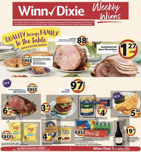 Winn Dixie Weekly Ad Preview Apr 8 14 2020