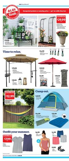ALDI Weekly Ad Camp Products May 24 - 30, 2020