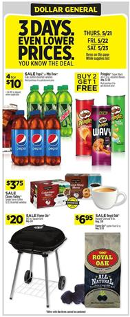 Dollar General Ad 3-Day Sale May 21 - 23, 2020