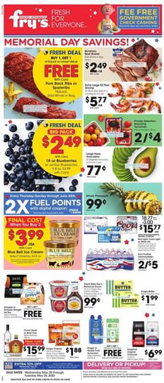 Fry's Weekly Ad Memorial Day May 20 - 26, 2020