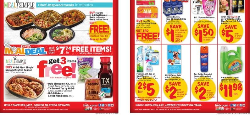 HEB Weekly Ad Sale May 13 19 2020 2