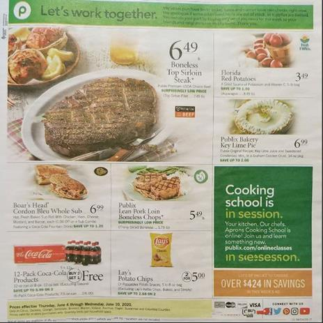 Publix Weekly Ad Preview Jun 3 9 2020
