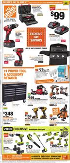 Home Depot Father's Day Gifts Jun 11 - 21, 2020