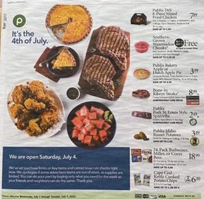 Publix 4th of July Sale