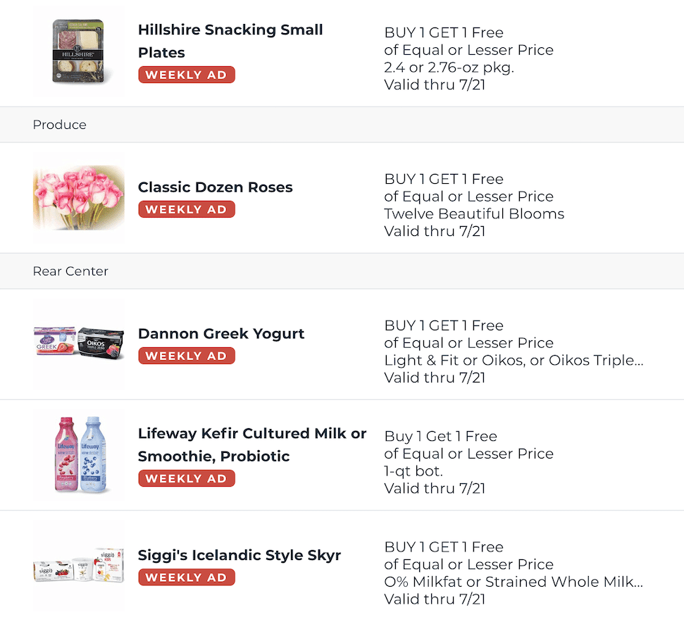 Publix BOGOs Jul 15 21 2020 14