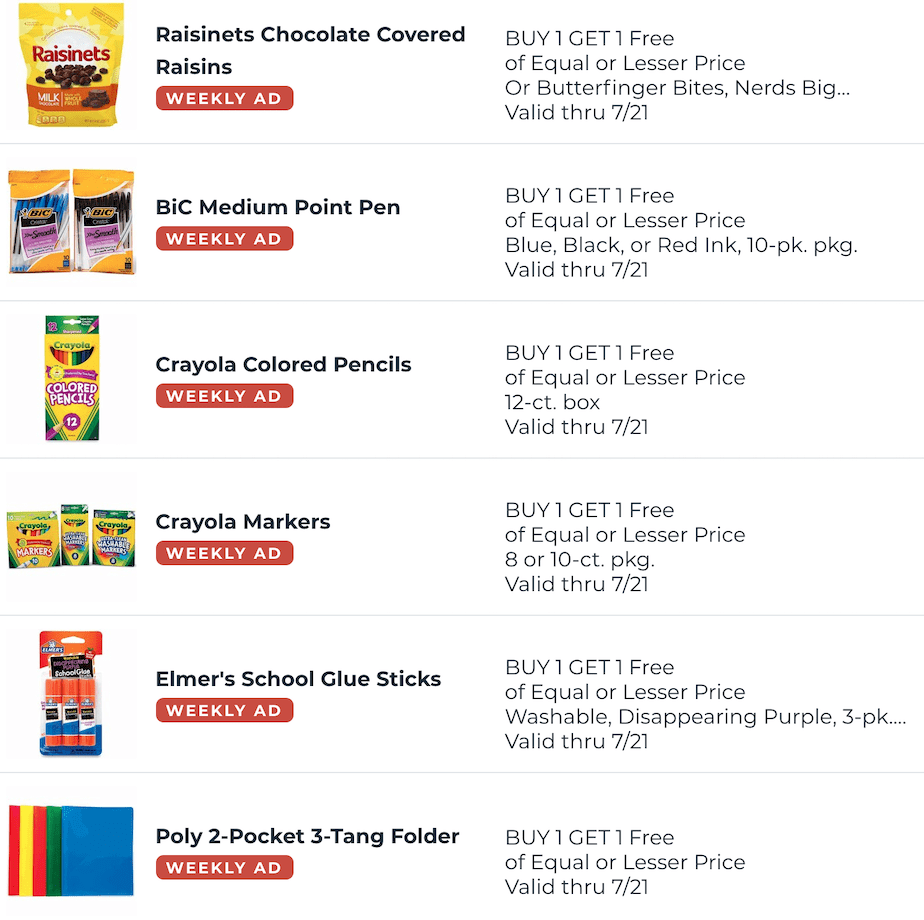 Publix BOGOs Jul 15 - 21, 2020