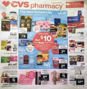 CVS Weekly Ad Preview Aug 23 29 2020