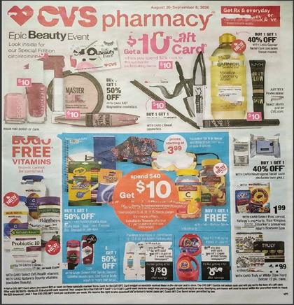 CVS Weekly Ad Preview Aug 30 - Sep 6, 2020