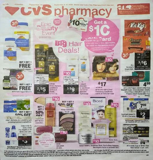 CVS Weekly Ad Preview Sep 6 12 2020