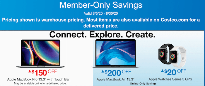 Costco Member Only Savings Aug 5 30 Macbook Air