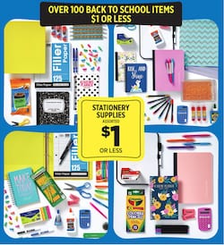 Dollar General Back to School Sale