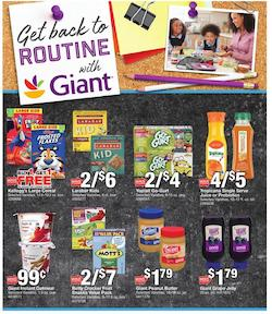 Giant Weekly Ad Back to School Aug 14 20 2020