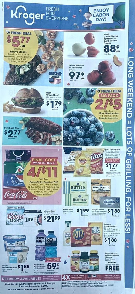 Kroger Weekly Ad Preview Sep 2 8 2020