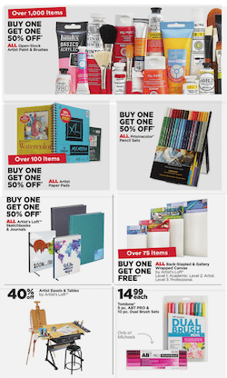 Michaels BOGO Free Deal Aug 23 29