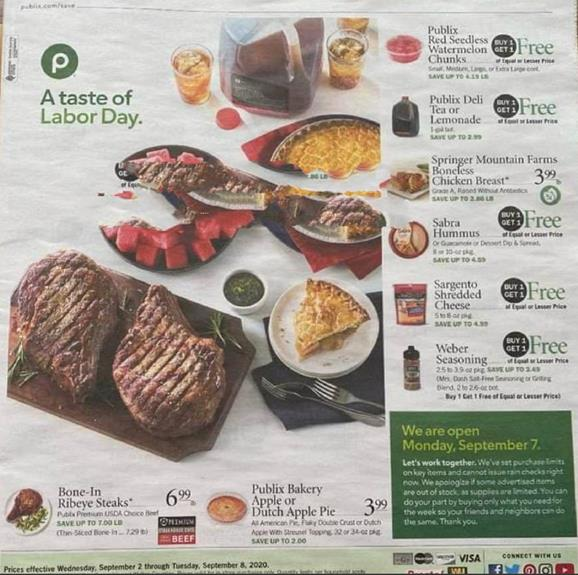 Publix Weekly Ad Preview Sep 2 8 2020