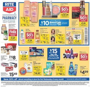 Rite Aid Ad Bonus Cash Deal Aug 2 - 8, 2020