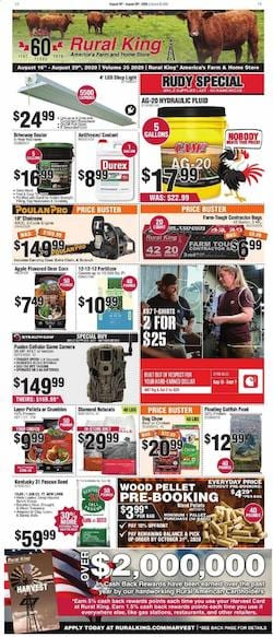 Rural King Ad Deals Aug 16 - 29, 2020