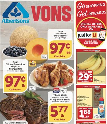 Vons Weekly Ad Preview Aug 12 18 2020