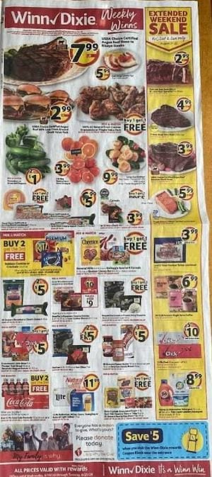 Winn Dixie Weekly Ad Preview Aug 19 25 2020