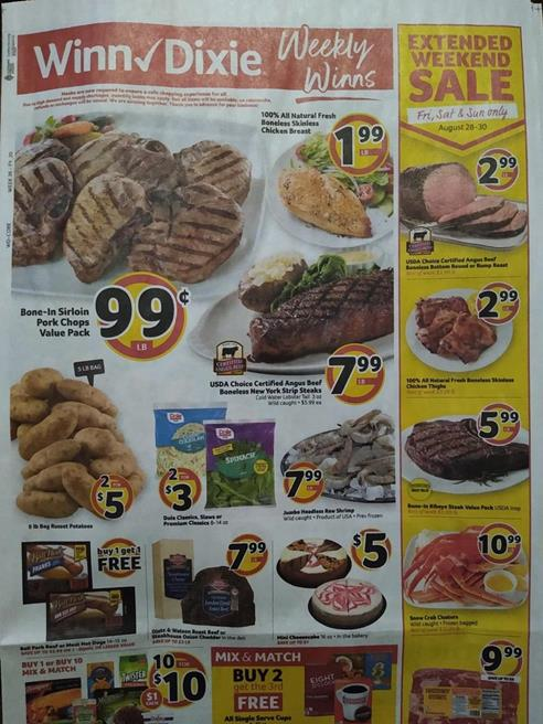 Winn Dixie Weekly Ad Preview Aug 26 - Sep 1, 2020