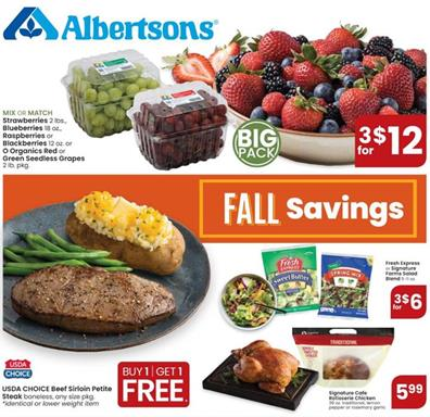 Albertsons Weekly Ad Preview Sep 30 - Oct 6, 2020