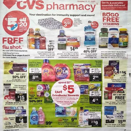 CVS Weekly Ad Preview Oct 11 - 17, 2020