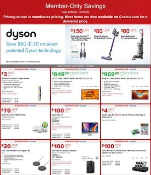 Costco Ad Dyson Deals Sep 30 - Oct 25, 2020