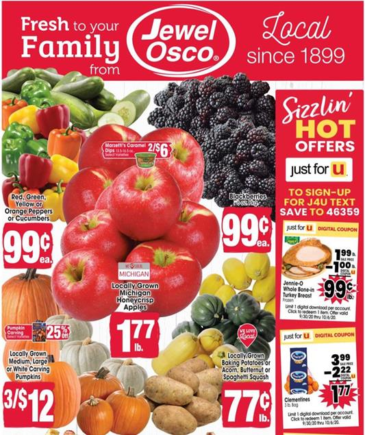 Jewel-Osco Ad Preview Sep 30 - Oct 6, 2020