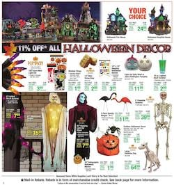 Menards Halloween Decoration Items Sep 6 - 12, 2020