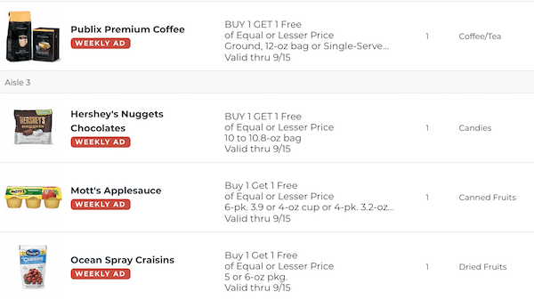 Publix BOGO This Week Sep 9 15 2020 2