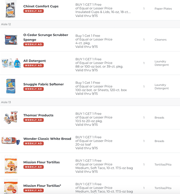 Publix BOGO This Week Sep 9 15 2020 9