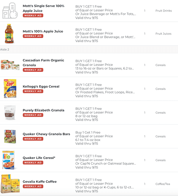 Publix BOGO This Week Sep 9 - 15, 2020