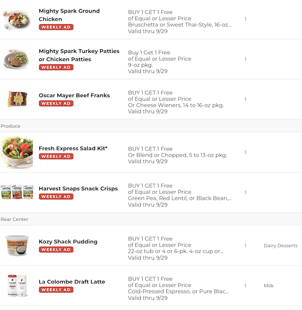Publix BOGOs Sep 23 29 2020 10