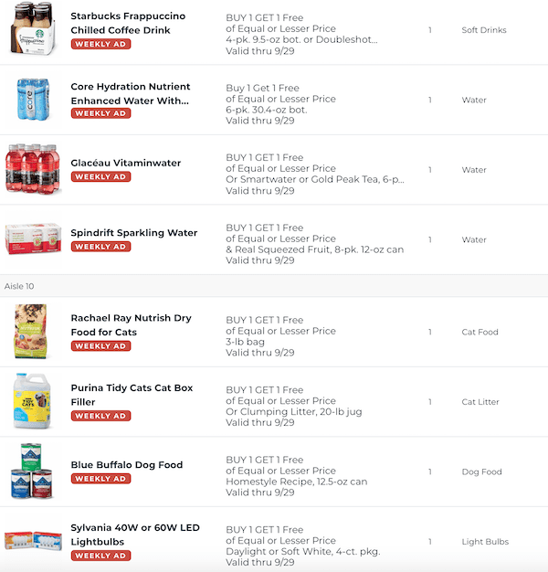 Publix BOGOs Sep 23 - 29, 2020 5