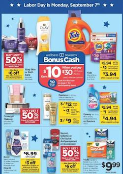 Rite Aid Ad Labor Day Bonus Cash Deal