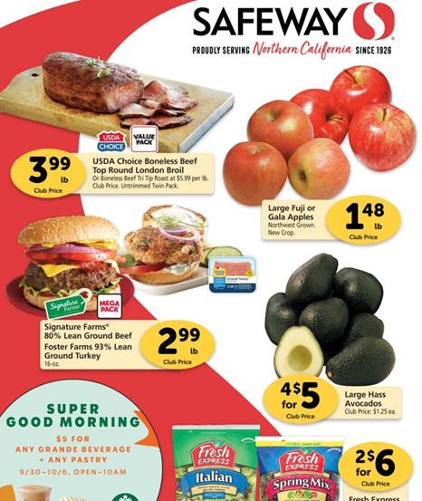 Safeway Weekly Ad Preview Sep 30 - Oct 6, 2020