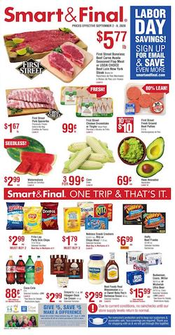 Smart and Final Ad Labor Day Savings Sep 2 - 8, 2020