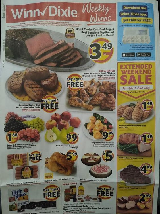 Winn Dixie Weekly Ad Preview Sep 16 - 22, 2020